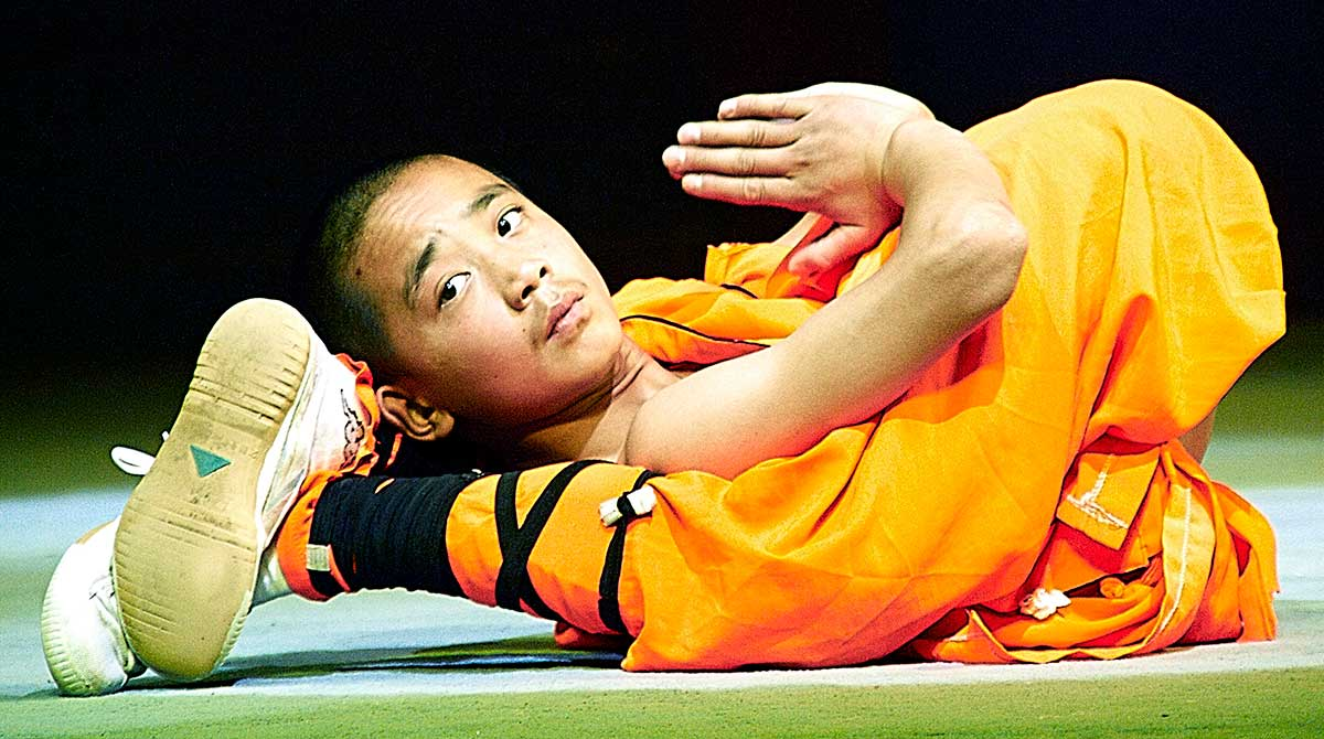 A Shaolin Monk Shows Self Discipline