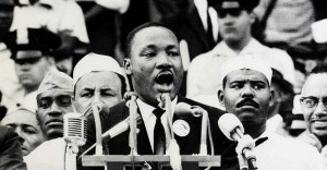 """Martin Luther King Jr. delivers his """"I have a dream"""" persuasive speech"""